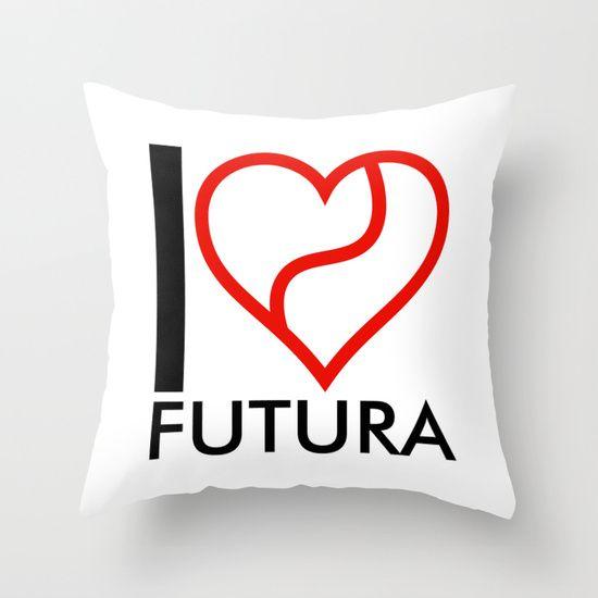 I love Futura Throw Pillow