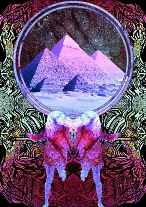 Fleeing the pyramids.