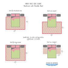 how to position area rug in a bedroom - Google Search