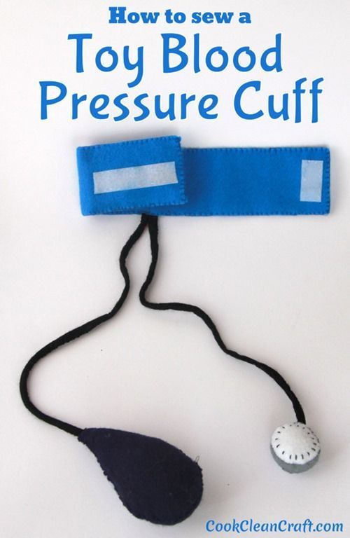 The felt medical kit I previously made my kids was missing a blood pressure cuff. Here's a DIY tutorial for how to sew a toy blood pressure cuff.