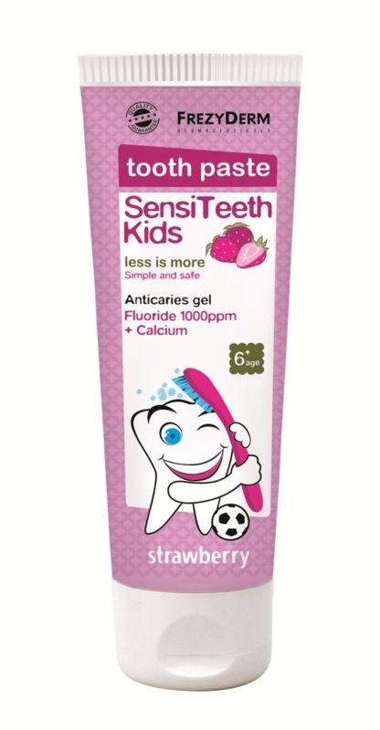 Frezyderm SensiTeeth Kids Tooth Paste 1.000ppm Οδοντόκρεμα Κατά Της Τερηδόνας Για Παιδιά Από 6 Ετών 50ml. Μάθετε περισσότερα ΕΔΩ: https://www.pharm24.gr/index.php?main_page=product_info&products_id=4419
