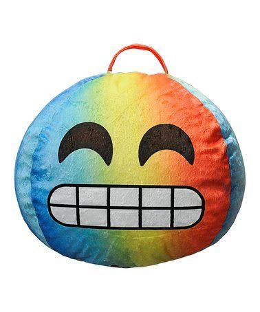 Look what I found on #zulily! Flawless Emoji Bean Bag #zulilyfinds