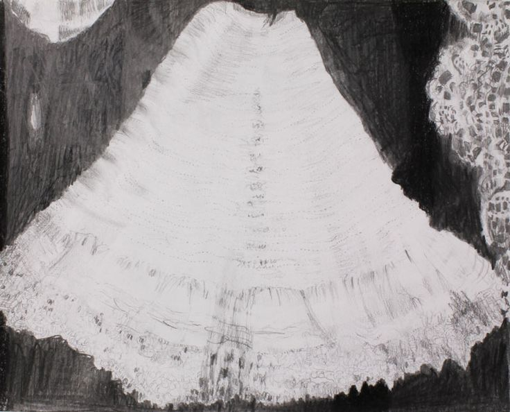 Kanten rokje 2015 potlood op papier 24X30 cm