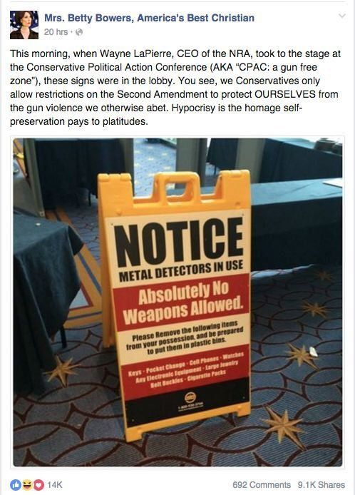 """The CPAC hot air factory becomes a """"hypocrite-free"""" zone, when America's Best Christian™ is on the case!..."""