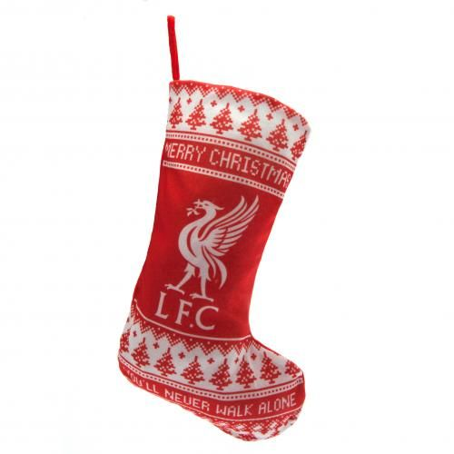 "LIVERPOOL FC Nordic Christmas Stocking with the words ""You'll Never Walk Alone"". Approx 46 cm x 27 cm. Official Liverpool FC gift"