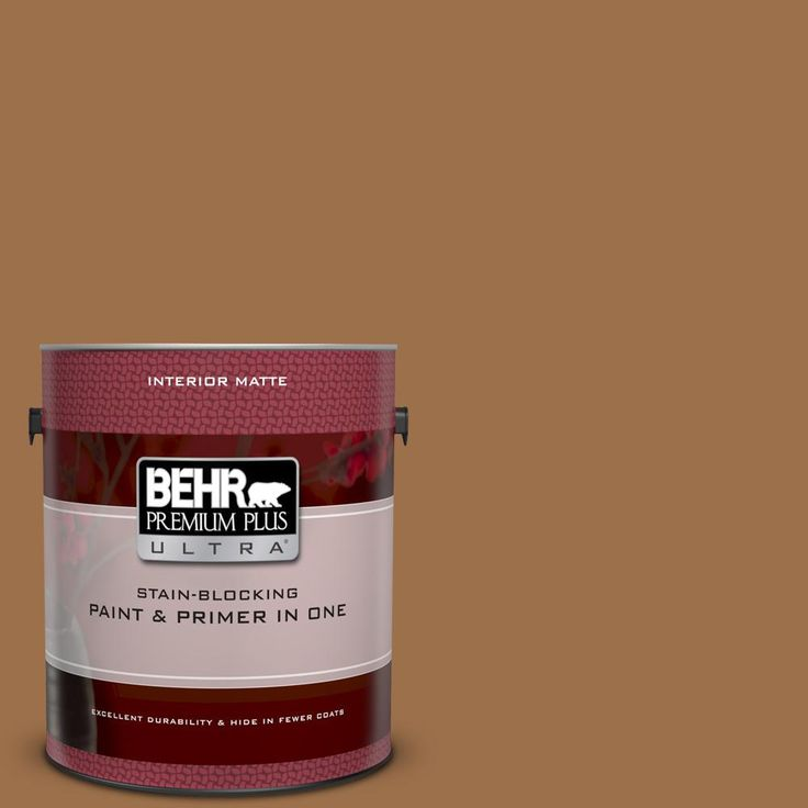 Behr Premium Plus Ultra 1 Gal Ppu4 17 Olympic Bronze Matte Interior Paint And Primer In One Behr Premium Plus Ultra Exterior Paint Behr Marquee