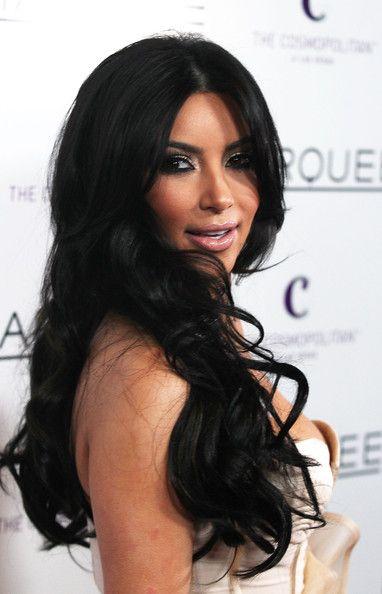 kim kardashian hairstyles | Kim Kardashian Curly Long Hairstyles - Styles Hub