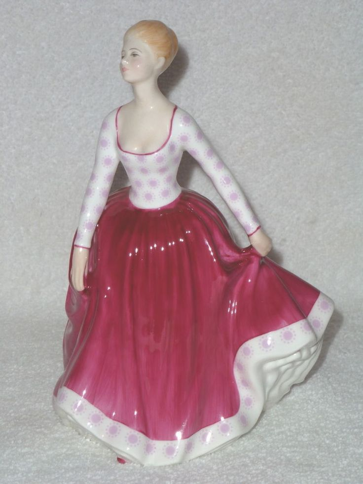 "ROYAL DOULTON ""Fiona"" Lady in Red Dress Figurine HN 2694 RETIRED"