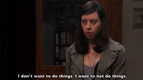 April Ludgate perfectly sums up the Monday Feels #theberry #parksandrecreation