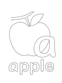 small alphabet coloring pages - photo#46