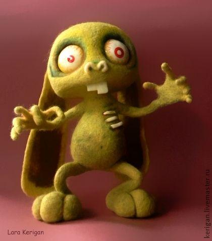 заяц-ЗомбачОк - оливковый,зомби,страшилка,заяц,сумашедший заяц,зеленый