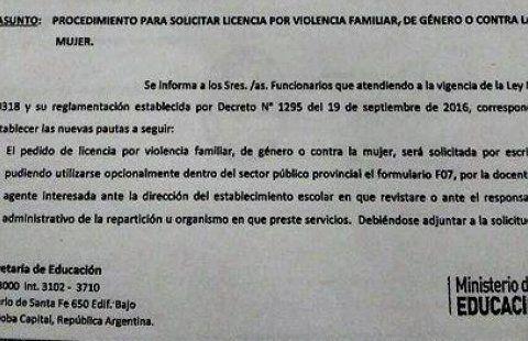 Cómo solicitar la licencia por violencia familiar » Noticia » Noticias » UEPC - Unión de Educadores de la Provincia de Córdoba