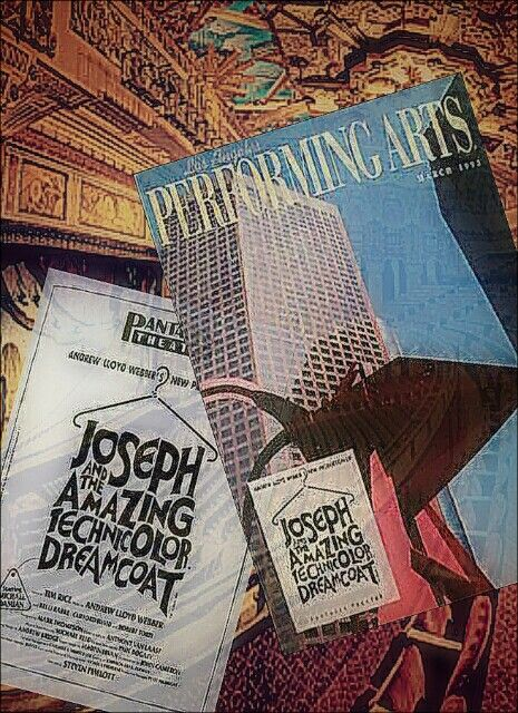 """Los Angeles, CA Premiere of the U.K. Palladium revival of """"Joseph and the Amazing Technicolor Dreamcoat"""" ... pre-Broadway production ... February 16 - June 27, 1993 ... Michael Damian starred in the production ... Production Design by Mark Thompson ... Music by Andrew Lloyd Webber ... Lyrics by Tim Rice ... Directed by Steven Pimlott"""