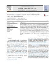 Biodiversity loss in seagrass meadows due to local invertebrate fisheries and harbour activities - ResearchGate