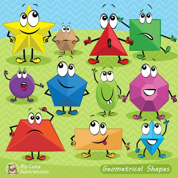 Geometric shapes clipart, geometric clip art, emoji geometric, Scrapbook supplies PNG, teachers supply, comercial use