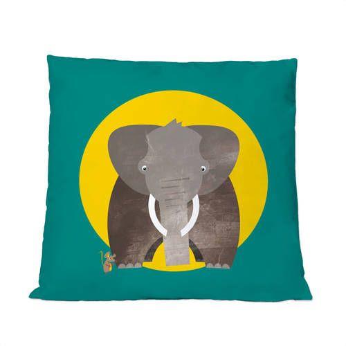 Dekorative Kissen: Best Friends – Elefant und Maus by Pia Kolle