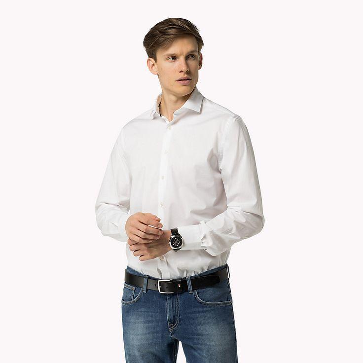 Tommy Hilfiger Figurnahes Hemd Aus Stretch-popeline - classic white - Tommy Hilfiger Freizeithemden - Hauptbild