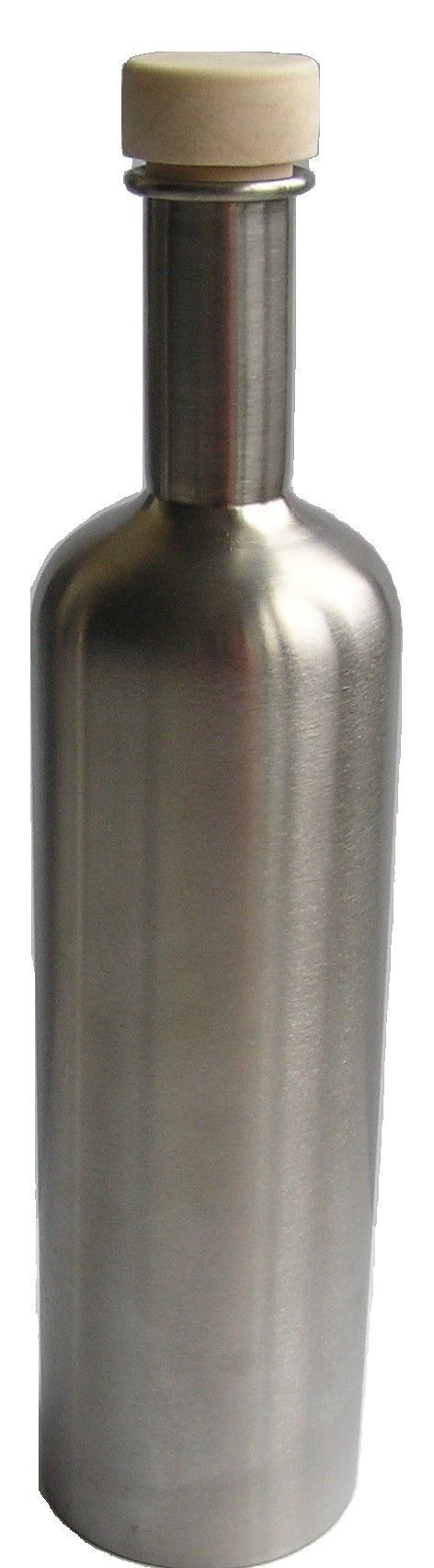 Botella para agua de acero inoxidable de 500 ml., ideal para transportarla en mochilas o bolsos ya que son muy ligeras o para usarla en casa o en la oficina. Higiénica, elegante y duradera, con estas botellas evitamos así el uso de botellas de plástico sin peligro de que se rompan al caer al suelo.