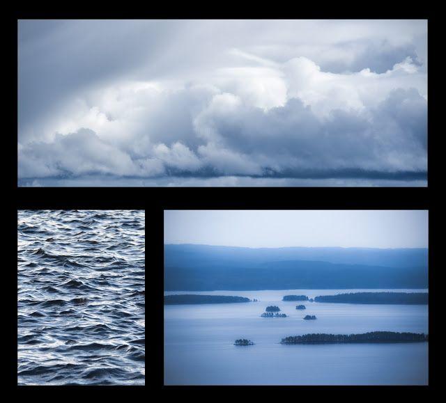 Finland blog järvi pilvet sininen aallot