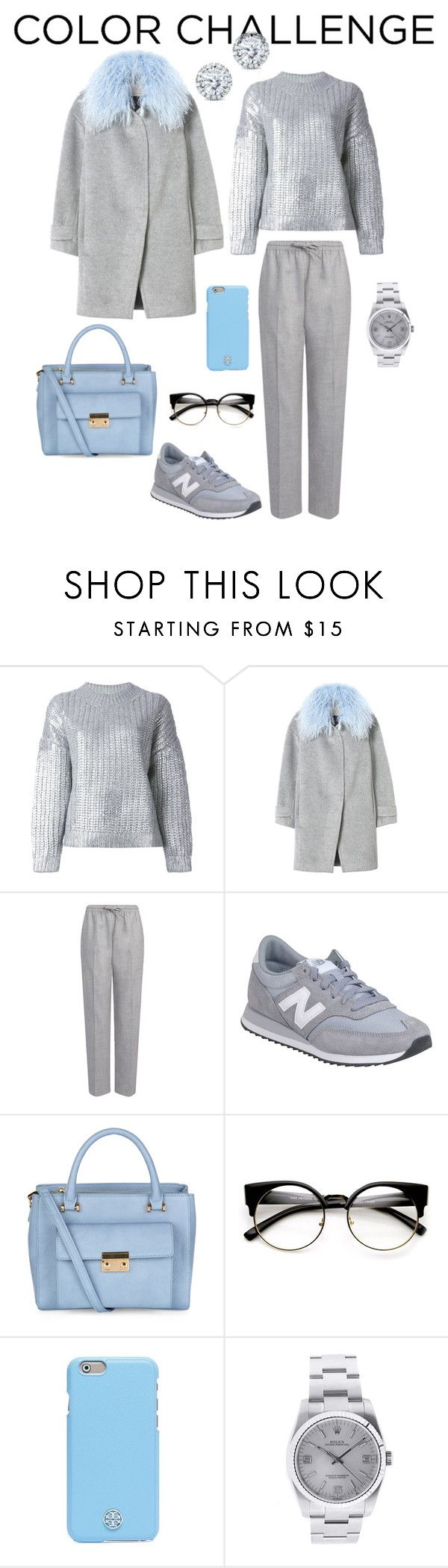 """Спорт-шик"" by galaktica ❤ liked on Polyvore featuring moda, DKNY, Rebecca Taylor, Joseph, New Balance, Accessorize, Tory Burch, Rolex y Kobelli"