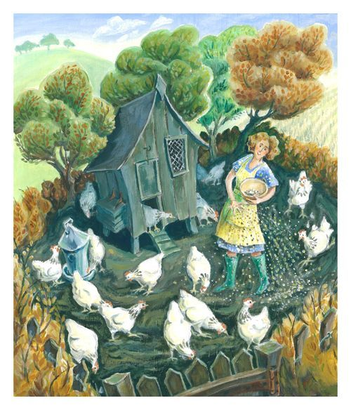 Feeding the Chickens by Jenny Beck