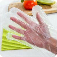 ( 100 adet/pack) gıda sınıfı şeffaf plastik atılabilir eldivenler filmi eldiven pişirme mutfak aletleri yemek bar aksesuarları #zmsm