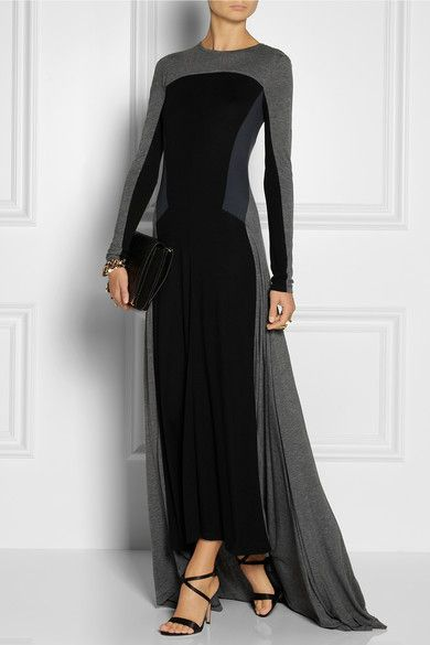 DKNY Black Maxi Dress Fall 2013/14