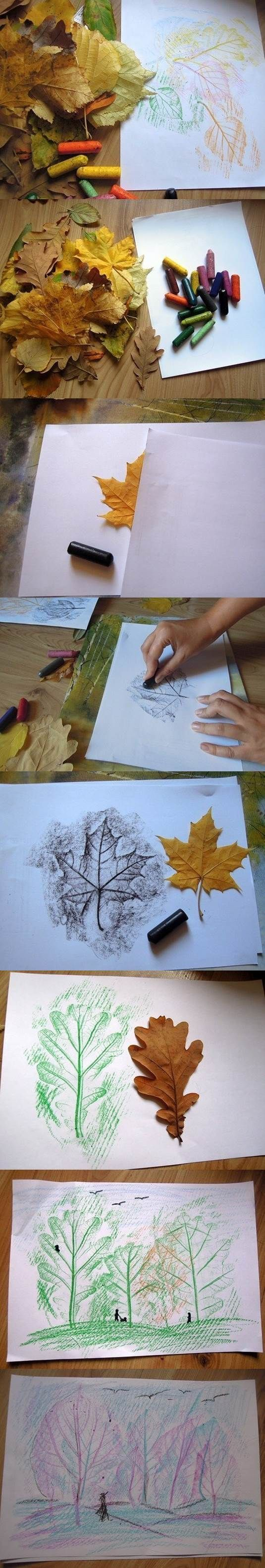 Creative Leaf Drawing | iCreativeIdeas.com Like Us on Facebook ==>…