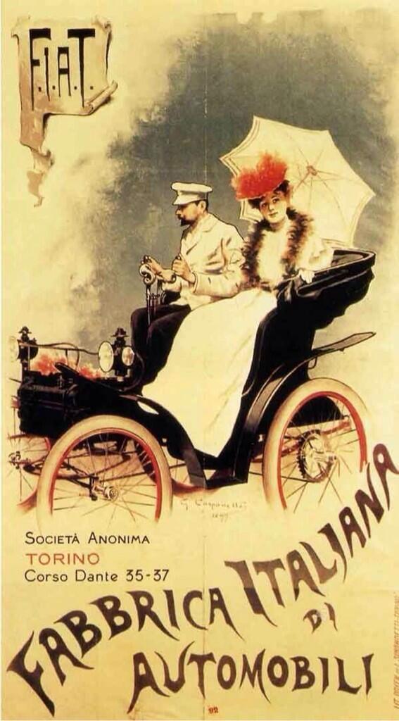 Fiat (Fabbrica Italiana di Automobili) Poster