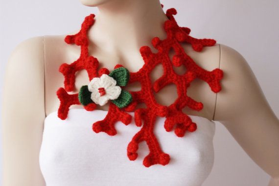 crochet jewelry crochet pendant crochet necklace by SenasShop