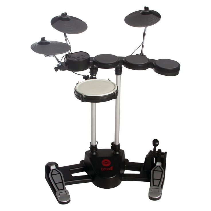 Hitman Electric Drum Set (iPad, smartphone and laptop accessory) - Black