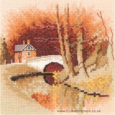By The Canal - John Clayton Miniatures Cross Stitch Kit from Heritage Crafts