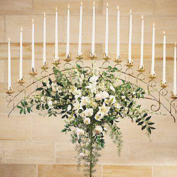 Flowers for Wedding Candelabras - Church Decorations