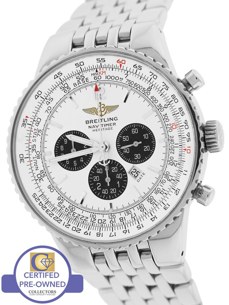 Breitling Navitimer Heritage Flyback Panda White Stainless 43mm A35340 A35350