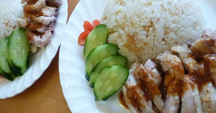 シンガポールでポピュラーな「チキンライス」炊飯器で簡単に作りました!レシピの女王の1次審査通ったレシピです!