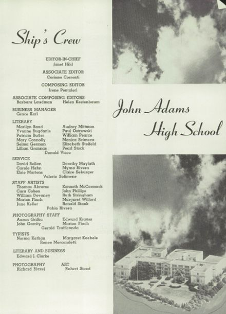 1953 John Adams High School Yearbook Page 5