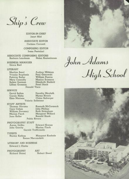 1953 John Adams High School Yearbook Page 5