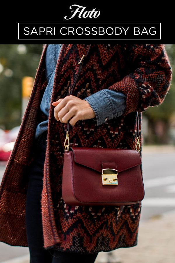 Sapri Crossbody Bag (Large) is made with Italian saffiano leather that is scratch  resistant aaaf92b1036e7
