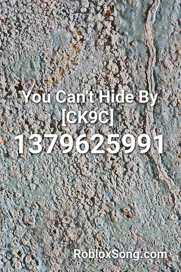 You Can T Hide By Ck9c Roblox Id Roblox Music Codes In 2020