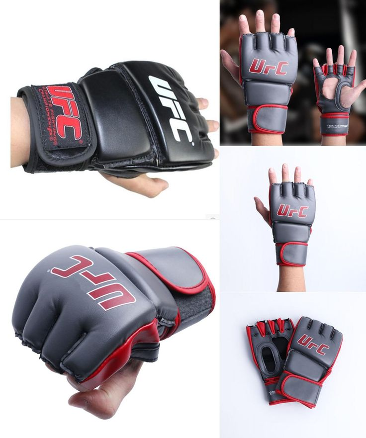 [Visit to Buy] Half finger boxing gloves guantes de boxeo training sport fitness fighting boxeo kick boxing mma gloves #Advertisement