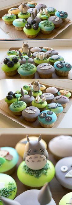 Вот такие кексики подарила любимая на день рождения день рождения, кекс, подарок, тоторо, Миядзаки