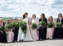 Lauren & Charlie » Crockwell Farm by green room flowers #weddingflowers #greenroomflowers #foliagewedding