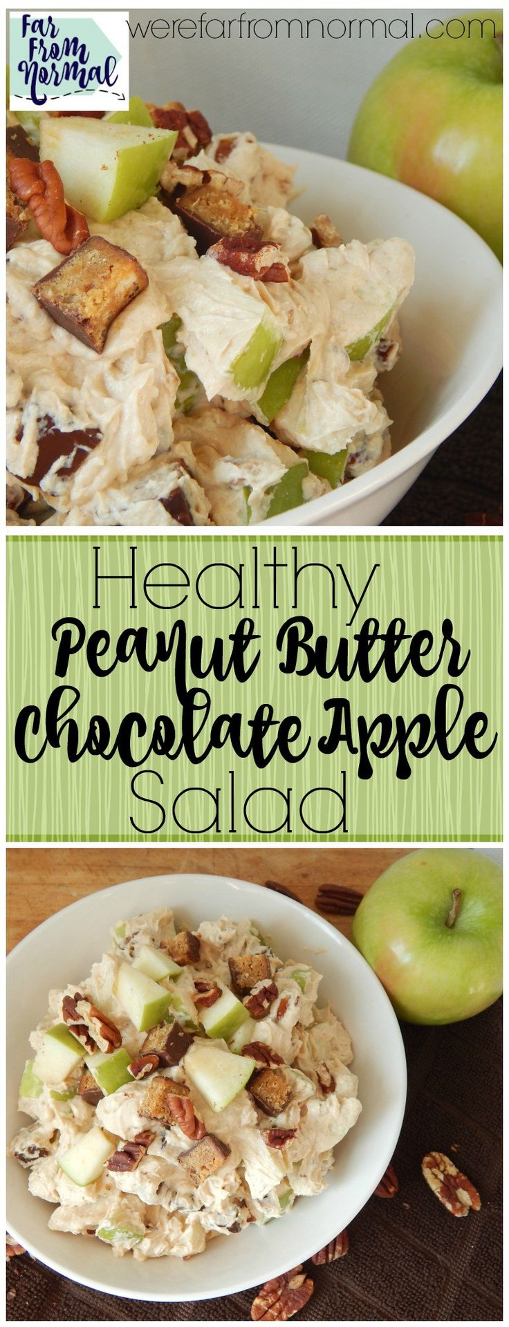 This salad is incredible!! It's so delicious, rich, creamy, and crunchy, you'll never guess that it's healthy! Made with greek yogurt and protein bars it's as healthy as it is delicious!