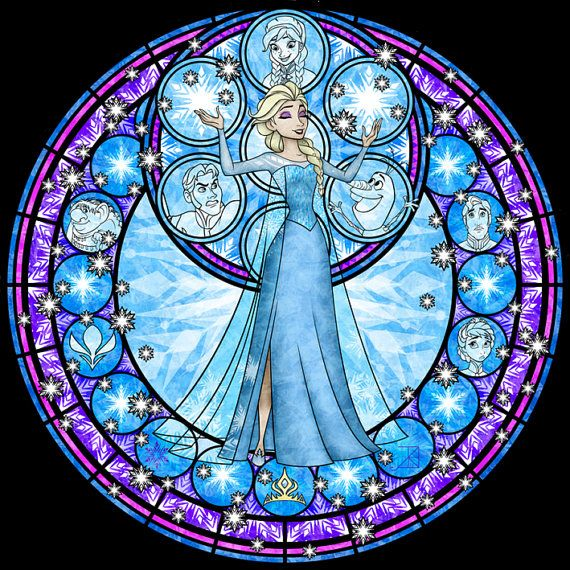 Cross Stitch Pattern for Elsa Kingdom Hearts by TheStitchingGirl, $5.00