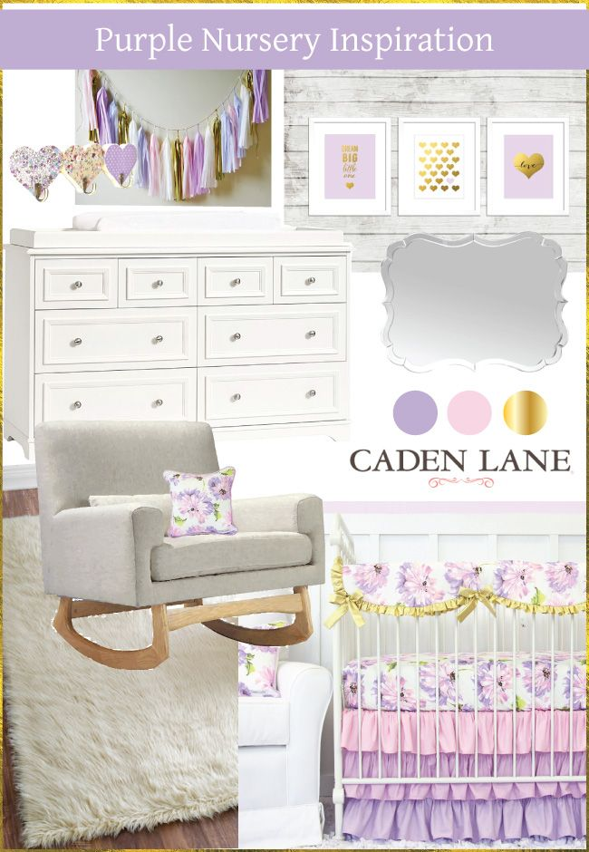 Purple isn't always easy to decorate with. Get some tips and inspiration for decorating a baby girl's purple nursery and find your dream purple baby bedding