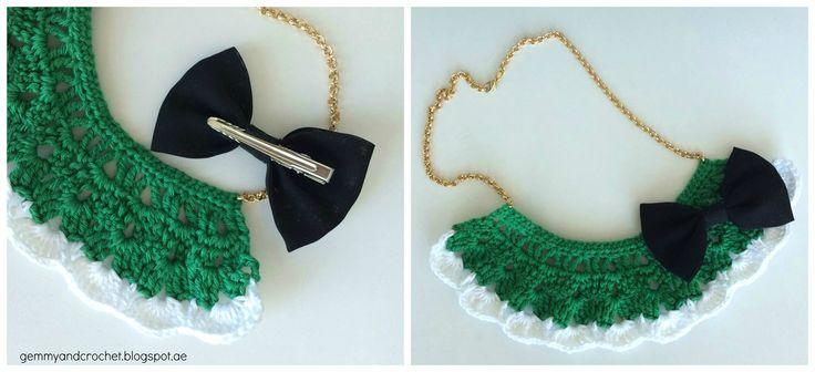 Free Pattern: Cozy Bib Crochet Necklace