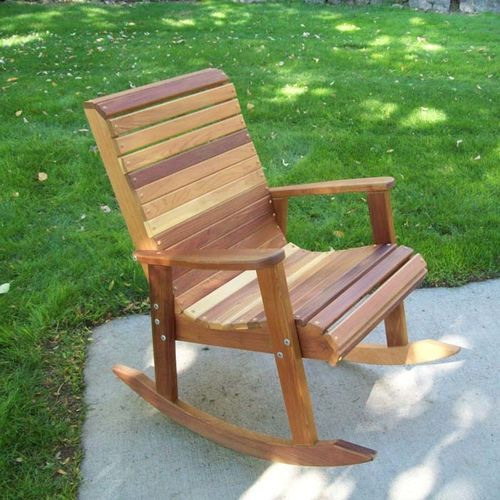 TandL Outdoor Wood Rocking Chair