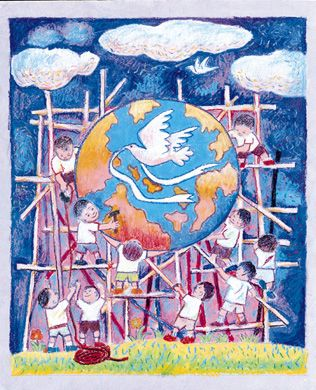 Peace Poster Contest Grand Prize Winners