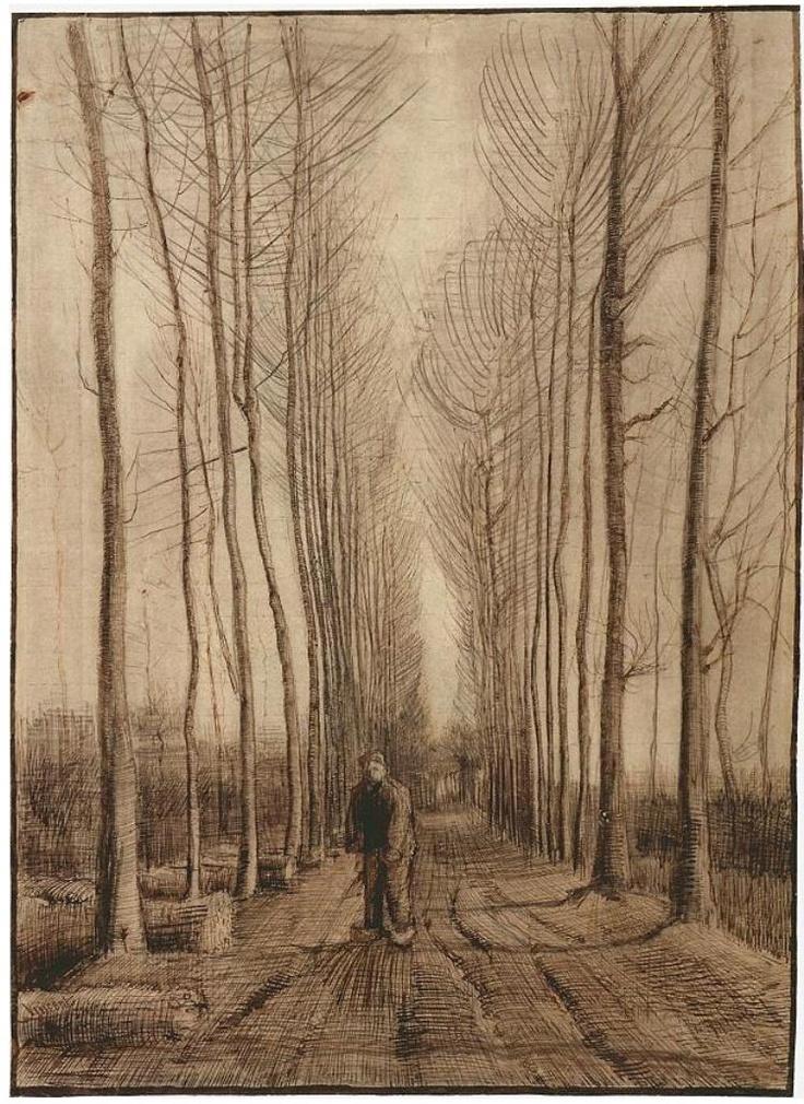 Vincent van Gogh - Avenue of Poplars 1884