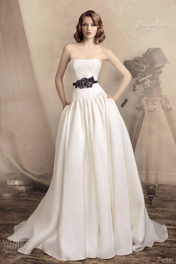 papilio wedding dresses 2013 monika drop waist ball gown